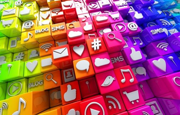 social-media-icons-3d-cubes