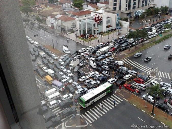 De todos modos había tráfico