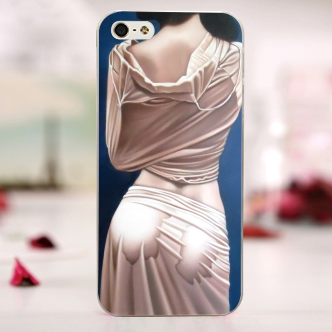 Nude-painting-Naked-Girl-Wet-Temptation-TPU-Soft-Rubber-Case-for-iPhone-4-4s-5-5s
